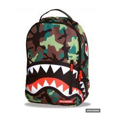 Sprayground Camo Shark Backpack/Laptop Bag @UKKolours