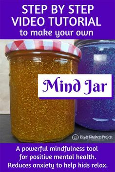 Mind jars are an amazing mindfulness tool for the home or classroom. They can help children regulate emotions and manage behavior by reducing anxiety and anger. Use them to nurture wellbeing and boost productivity. Anxiety And Anger, How To Calm Anxiety, How To Treat Anxiety, Anxiety In Children, Children With Autism, Helping Children, Calming Anxiety, Coping Skills, Health