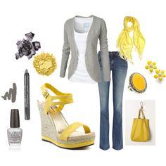yellow + grey