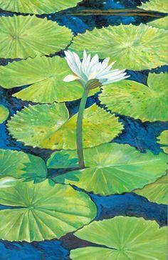 "Saatchi Online Artist Joseph Roache; Painting, ""Lilly Pads"" #art"