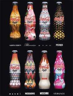 Coca Cola tribute to Italian Fashion.