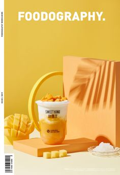 SWEEKING ✖ 哈根达斯 ✖ foodography on Behance Food Graphic Design, Food Poster Design, Food Menu Design, Juice Packaging, Bottle Packaging, Debit Card Design, Best Lemonade, Food Branding, Drink Photo