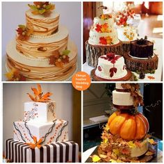 Fall Wedding Cakes but since I am already married Fall Birthday Cake Ideas. Even though my birthday is in May it doesn't matter what your cake looks like!