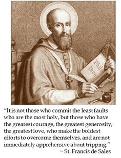 St. Francis De Sales on the most holy