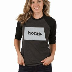 North Dakota Home Baseball T