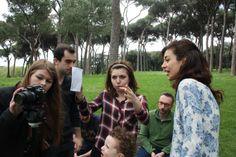 The crew and the director #villaPamphili #shortfilm #cortometraggio #actors