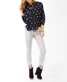 For the modern cowgirl look :: Cacti Print Shirt | FOREVER21 - $19.80