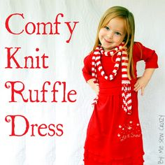 """VERY SHANNON: Comfy Knit Ruffle Dress Tutorial with Guest """"Me Sew Crazy"""""""