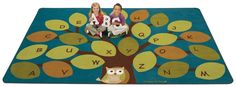 Owl-phabet Tree Rug Factory Second 8 x 12 - SensoryEdge