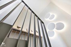 Beautiful art light designed by Jordi Vilardell at a duplex penthouse in Israel. Interior design by Dvirotem Interior Design. Stair Lighting, Lighting Design, Glass Diffuser, Fashion Lighting, Light Art, Design Projects, House Design, Ceiling Lights, Interior Design