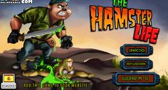 Ayuda a este Hamster a vencer a todos los zombies que están amenazando el bosque, golpearlos hasta desaparecerlos, tienes la opción de poner pausa y actualizar tu poder como vida.