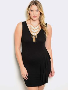 eb3286efe8c BLACK PLUS SIZE BODYCON DRESS Plus Size Bodycon Dresses