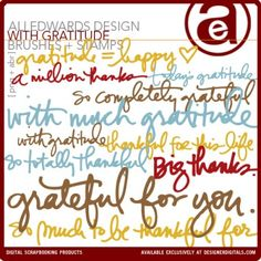 A Vegas Girl at Heart: Freebie: Ali Edwards With Gratitude brushes