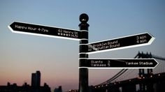 World's Most Intelligent Street Sign Can Point You to Almost Anything | Adweek