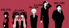 Killua and all of his BROTHERS.