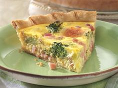 Get Ham and Broccoli Quiche Recipe from Food Network