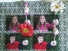 3-D Valentine's Day cards.....lollies for classmates and flowers for the grown-ups. We had fun making these!