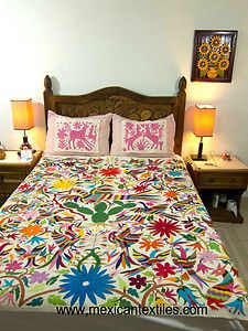 Mexican style printed bedspread
