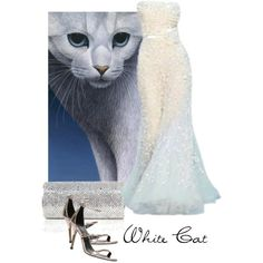 White Cat, created by moodycat on Polyvore