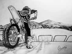 My Pencil Art of Dirtbikes :)
