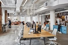 Nike Office, Commercial Office Design, New York Office, Communal Table, Workplace Design, Co Working, Coworking Space, Interior Design Studio, Commercial Interiors