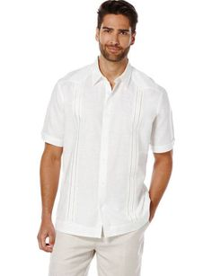 white linen groomsmen shirts