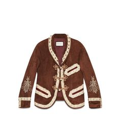 Suede embroidered jacket