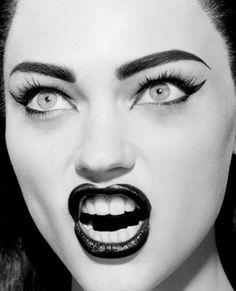 """Diva"" Sasha Pivovarova photographed by Miles Aldridge for Numéro 2005"