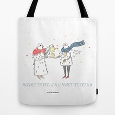 If i were a brid by Andsmile studios Tote Bag by Au cabaretdesoiseaux - $22.00