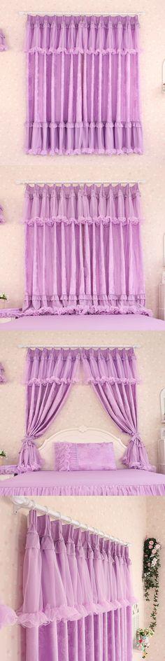 Custom Luxury Purple Modern Sheer Tulle Curtains For Windows Kids ...