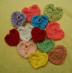 Loom Knit - Little loom-knit hearts on 12 peg flower loom from Loom Lore