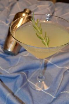 """A rosemary lemon drop martini, inspired by the creativity of Tommy Patrick, the new bartender at the Twisted Fish. Courtesy of Kelly """"Midgi"""" Moore."""