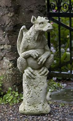 Emrys cast stone gargoyle statue made by Campania International