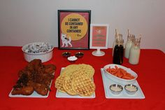 Bolt Movie Night Menu:  Waffle World's Fried Chicken and Waffles  Mr. Carrot's Carrot and Dip  Bolt's Super Puppy Chow