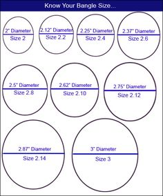 A wire gauge chart to use when working with wire jewelry learning bangle size chart greentooth Image collections