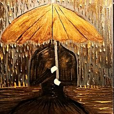 My new painting tittle golden rain 14 inches by 14 inches asking price $150 cheers Yves Rene