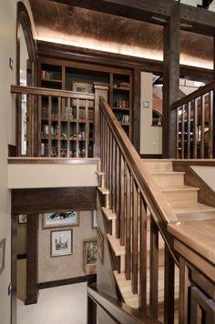 two tone brown stairs... kinda like