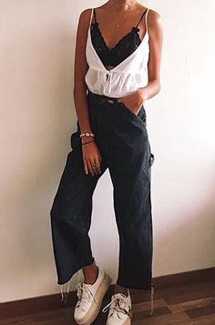 Night Outfits, Spring Outfits, Trendy Outfits, Cute Outfits, Urban Fashion, Girl Fashion, Fashion Outfits, Jeans And T Shirt Outfit, Facon