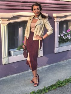 Summer style outfit Marsala