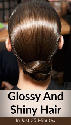 Glossy And Shiny Hair In Just 25 Minutes Capelli lucidi e lucenti in soli 25 minuti dei capelli lisci Shiny Hair Tips, Glossy Hair, Silky Hair, Smooth Hair, Fluffy Hair, Hair Smoothening, Hair Tonic, Dry Damaged Hair, Hair Growth Tips