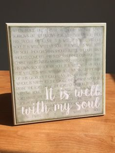 Hymn It is Well with my Soul 8x8 wooden sign by bethborder on Etsy