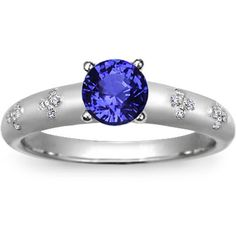 18K White Gold Sapphire Blossom Ring from Brilliant Earth