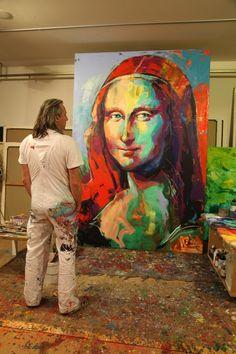 0627 Voka - Mona Lisa 1 (c) Abstract Portrait, Portrait Art, Abstract Art, Mona Lisa, Voka Art, La Madone, Art Studio Design, Art For Art Sake, Mural Art
