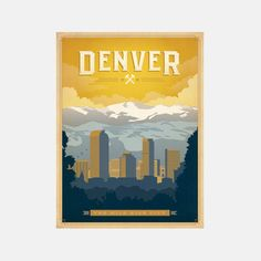 Denver Mile High City 18x24  by Shelby Rodeffer