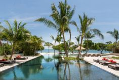 The pool at the highly anticipated Itz'ana resort in Placencia, Belize. Belize Resorts, Belize Vacations, Belize Travel, Beach Resorts, Vacation Destinations, Hotels And Resorts, Beach Travel, Luxury Travel, Vacation Ideas