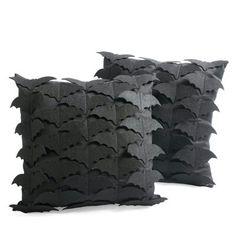 Bat covered pillows! <3