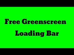 Free Greenscreen Loading Bar Hey guys this is our Free greenscreen footage giveaway to you for all your love and support during our though times. Make It Yourself, Bar, Projects, Free, Log Projects, Blue Prints
