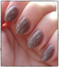 Taupe with glitter