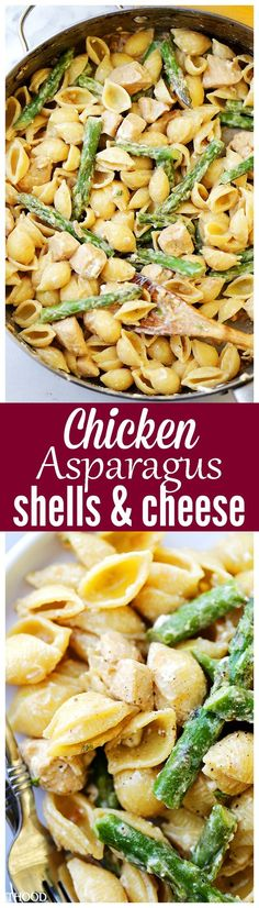 Creamy Chicken Asparagus Shells and Cheese Recipe – Lightened-up, yet perfectly creamy homemade shells and cheese made with chicken, asparagus, cream cheese and feta. Source by diethood Cheese Recipes, Chicken Recipes, Cooking Recipes, Healthy Recipes, Pasta Recipes, Paleo Pasta, Drink Recipes, Healthy Meals, Chicken Asparagus Pasta