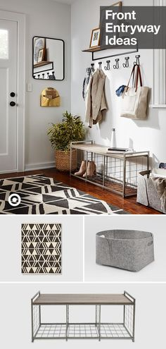 Dwelling Style Floor Strategy - How To Purchase A Home Layout Flooring Approach? Create The Perfect Front Entryway Thats Stylish, Welcoming And Full Of Storage And Smart Details. Interior Design Living Room, Living Room Decor, Kitchen Interior, Home Design, Apartment Living, Home Remodeling, Small Spaces, Diy Home Decor, Sweet Home